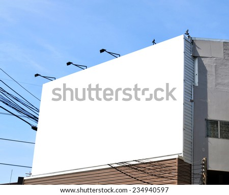 Blank billboard on the building.  - stock photo