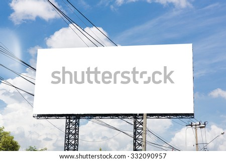 Blank billboard ready for new advertisement - stock photo
