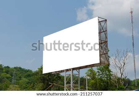 Blank billboard ready for new advertisement in rural. - stock photo