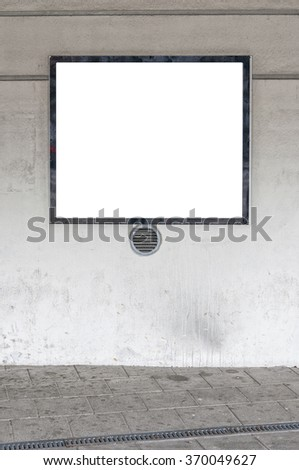 blank billboard with space to place your own advertising - stock photo