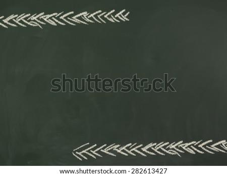 Blank black chalkboard, blackboard texture with copy space. - stock photo