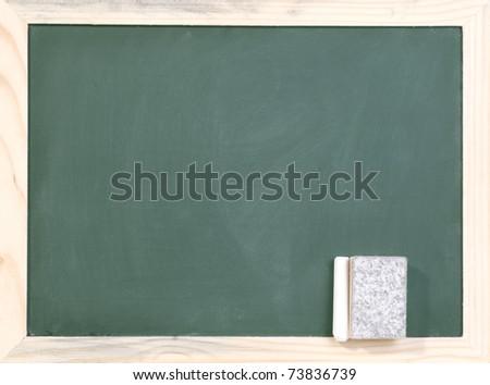 blank blackboard - stock photo