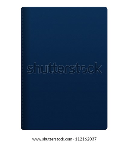blank blue passport isolated on white background - stock photo