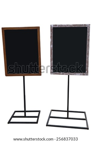 Blank Board Menu Isolated on White Background - stock photo