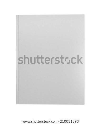 Blank book cover over white background. 3D render. Studying illustration. Back to school. - stock photo