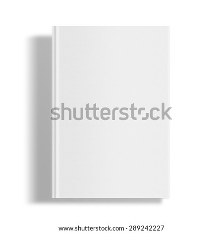 Blank book cover template isolated on white background with shadows. Highly detailed illustration.. - stock photo