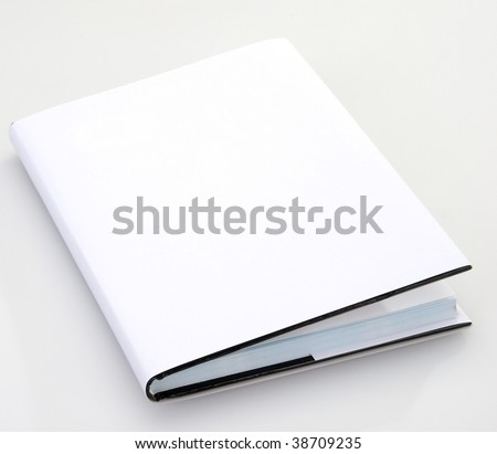 Blank book cover white - stock photo