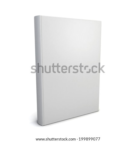 Blank book. 3d illustration isolated on white background - stock photo
