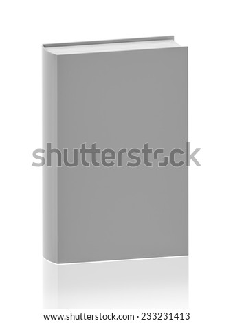 blank book isolated. bookcover with clipping path - insert your own design. 3D render - stock photo