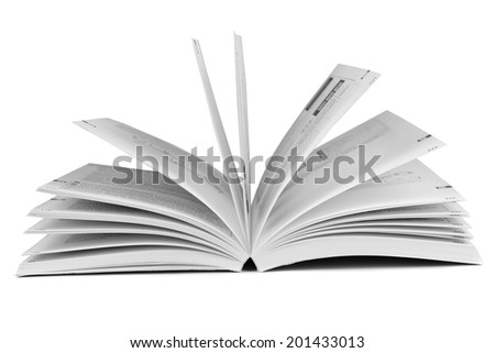 Blank book on light gray background - stock photo