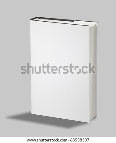 Blank book white cover - stock photo