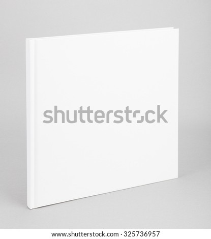 Blank book with white cover - stock photo