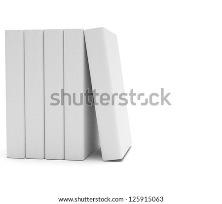 Blank books group - stock photo