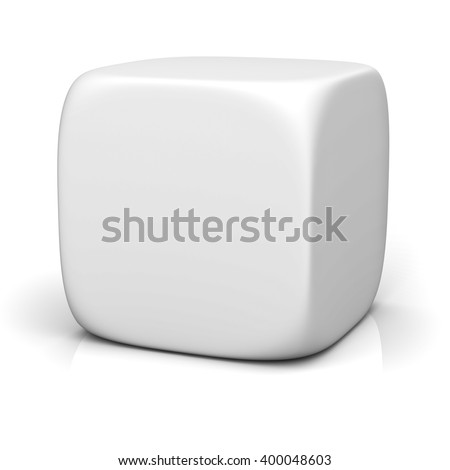 Blank box isolated on white background with reflection. 3D rendering. - stock photo