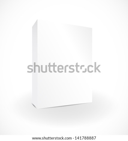 Blank box on white background with reflection illustration design - stock photo