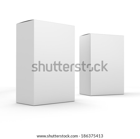 Blank box products composition. template for customizing - stock photo