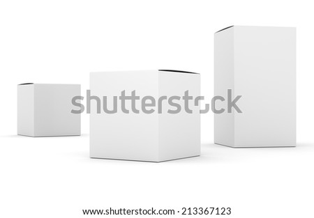 blank box products template - stock photo