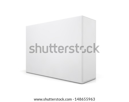 blank boxes isolated on white background  - stock photo