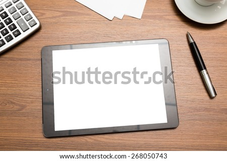 Blank, business, cellphone. - stock photo