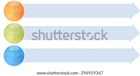 blank business strategy concept infographic arrow list diagram illustration three 3 steps - stock photo