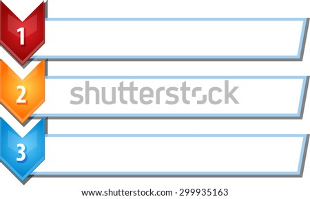 blank business strategy concept infographic chevron list diagram illustration three 3 steps - stock photo