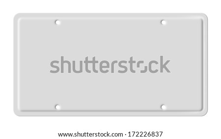 Blank car plate - stock photo