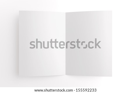 Blank card isolated on white, to replace message or image on cover - stock photo