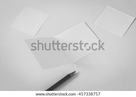 Blank card on grey background - stock photo