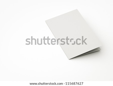 blank card, to replace message or image on cover. - stock photo