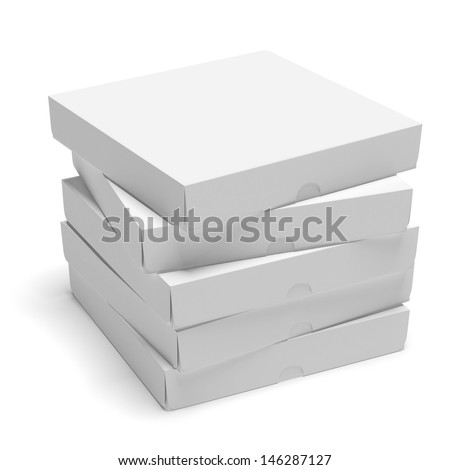 Blank cardboard boxes - stock photo