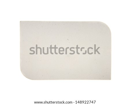 blank cardboard paper label isolated on the white background - stock photo