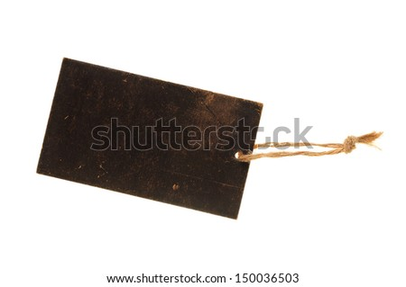Blank  cardboard paper label or tag - stock photo