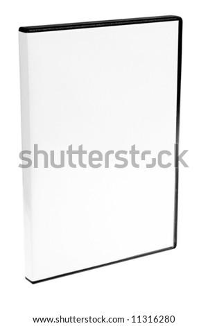 blank case DVD / CD white background - stock photo