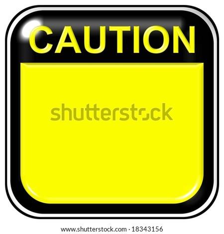 Blank caution sign - stock photo