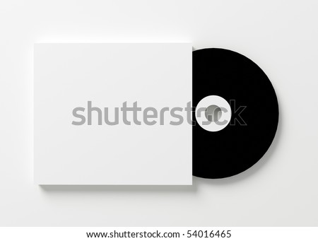 Blank cd cover on white background - stock photo