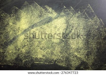 Blank chalkboard, blackboard texture with copy space - stock photo