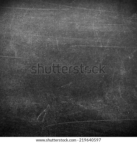 Blank chalkboard surface - stock photo