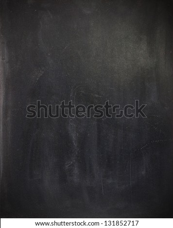 Blank cleaned chalkboard - stock photo