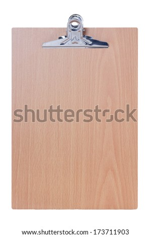 Blank clipboard, isolate on white background. - stock photo