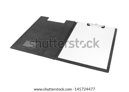 blank clipboard on white background (with clipping path) - stock photo
