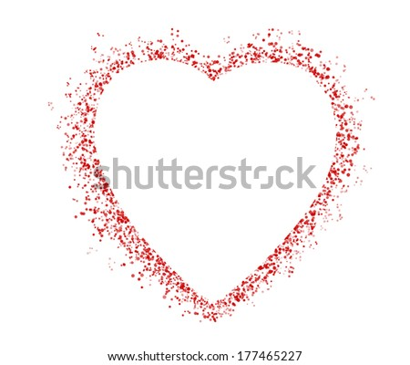 blank colorful symbol valentine day heart shape for text isolated on white background - stock photo