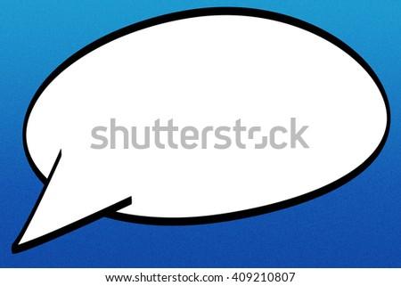 Blank Comic Speech Bubble - stock photo