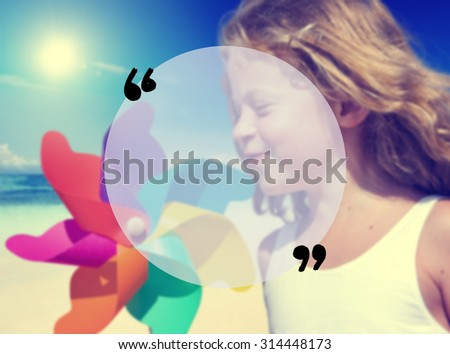 Blank Copy Space Holiday Quotation Mark Summer Concept - stock photo