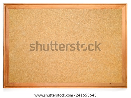 blank corkboard isolated on white - stock photo