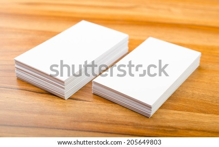 Blank corporate identity package business card - stock photo