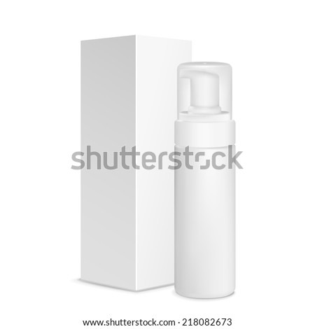 blank cosmetics package over white background  - stock photo