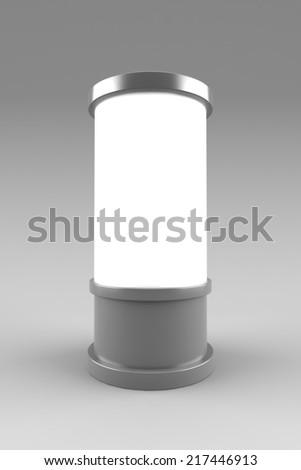 Blank cylinder billboard mockup - stock photo