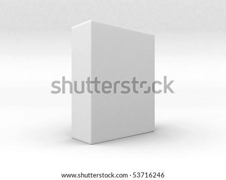 Blank 3d box - stock photo