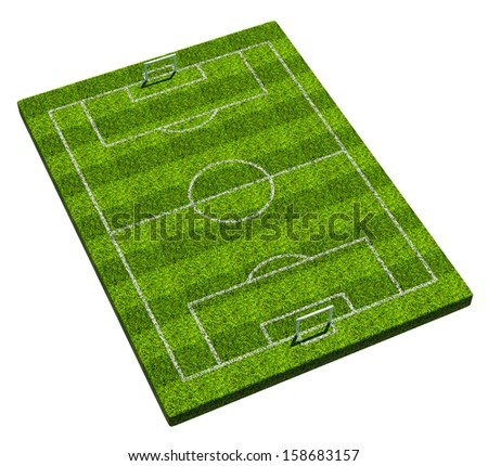 Blank 3d soccer formation plate. Isolated on white background - stock photo