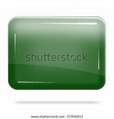 Blank Deep Green Board Float - stock photo